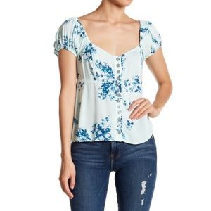 NWOT Free People Close to You Floral Top